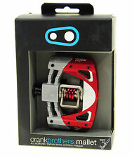 Crank Brothers Mallet 3 Platform Mountain Bike Pedals Raw/Red