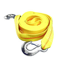 """HFS(R) Father's Day 2"""" x 30 Ft Tow Strap Rope 2 Hooks 10000lb Towing Recovery"""