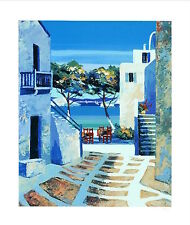 """""""Mykonos II"""" Limited Edition Serigraph by Kerfily LE SN C.O.A. # 38 of 250"""