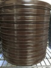 "Lot of 10 Vintage New Goldberg 16mm 9.5"" 600ft Metal Film Reel Cans Only Brown"