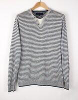 Tommy Hilfiger Herren Freizeit Henley Pullover Sweatshirt GRÖSSE S AMZ671