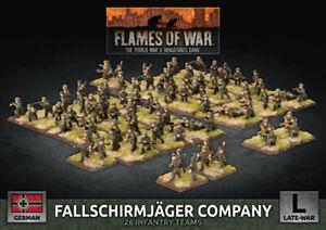 Flames of War Late War Germany Fallschirmjäger Company (Plastic) (GBX136)