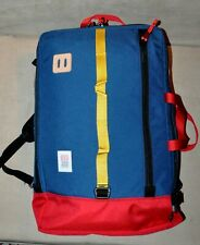 Topo Designs 30L Carry-On Convertible Travel Backpack/Suitcase/Duffel, Blue
