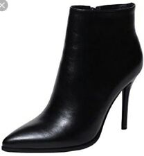 EUC MAISON MARTIN MARGIELA MM6 women's black ankle 2-texture leather boots sz38