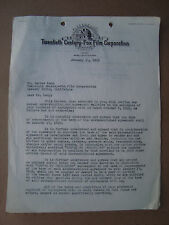 Walter Lang Director 20th Century Fox Signed Contract Letter 1949- Buster Keaton