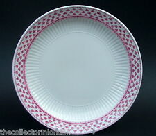 Adams Red Victoria Patterns 1st Quality Large Dinner Plates 25.5cm Look in VGC