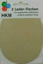 Kleiber Besatz-Flecken aus Leder-Imitat  2 x Größe ca 11cm x 8,5cm blau KL89305