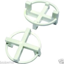 """100 Circular rOund TILE SPACERS 1/8"""" 3 mm 2 sided WHITE Plastic Circle TAVY 0004"""