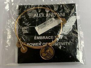 Alex and Ani Disney Parks Minnie Mouse Gold Tone Bangle Bracelet