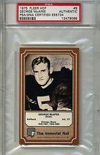 1975 Fleer Hal of Fame (HOF) George McAfee PSA Certified Autograph (Box DP)
