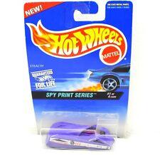 Mattel Hot Wheels Spy Print Series Purple Car