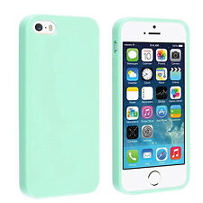 5x Mint Green Jelly TPU Soft Gel Rubber Snap-on Case Cover For Apple iPhone 5 5S