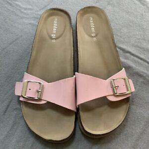 Madden Girl BAALLOT Pink Slide Sandals - Size 8.5 M