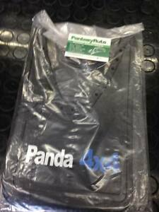 Fiat Panda 141 4x4 Una Coppia Paraspruzzi Paraschizzi In Gomma Sigla Blu