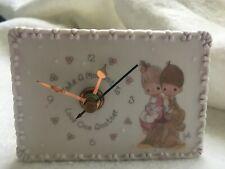 "Precious Moments ""Kids on Stump"" Mini Desk Clock #168858"