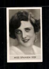 Miss Spanien 1929 Die schönsten Frauen der Welt Zigarettenbild ## BC 129170