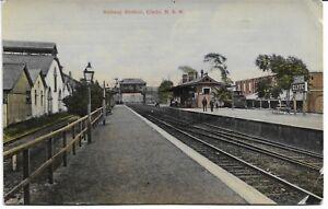 RAILWAY STATION CLYDE SYDNEY NSW POSTCARD