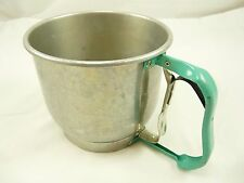 Vintage FOLEY 5 Cup Flour Sifter Turquoise Handle ~ Works Fine