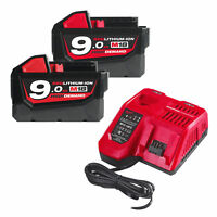 Milwaukee® Energy Pack 2 x 9.0Ah Li-Ion Batteries & Fast Charger M18NRG9