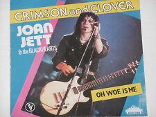 "JOAN JETT & THE BLACKHEARTS -Crimson And Clover- 7"" 45"
