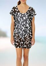 NWT Anne Cole Swimsuit Bikini Cover Up Dress Tunic Size S M Vines Mesh