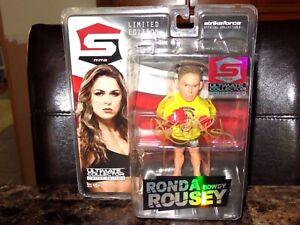 Ronda Rousey Rare Authentic Hand Signed Action Figure Strike Force MMA WWE + BAS