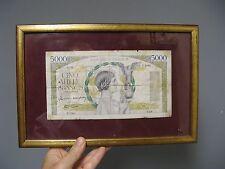 Ancien billet de 5000 f Français.