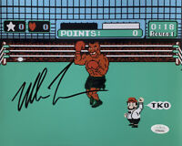 Mike Tyson Signed 8x10 Boxing Punch Out Photo JSA ITP