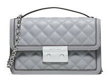 NWT Michael Kors Quilted Leather Sloan Small Messenger Crossbody Bag ~Dove
