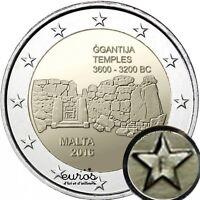 """2 euros conmemorativa Malta 2016 """"Ggantija"""" - 30 000 ejemplares - con troquel"""