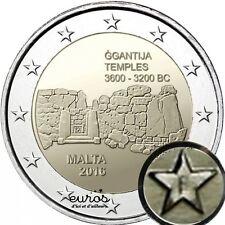 "2 euros commémorative Malte 2016 ""Ggantija"" - 30 000 exemplaires - avec poinçon"
