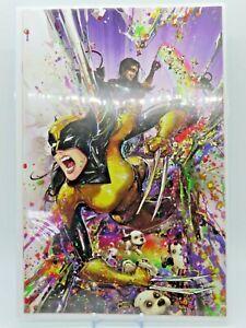 X-Men #1 (2021 Marvel Comics) Clayton Crain Black light Megacon Puppies Variant