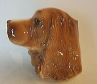 Vintage 1950's Royal Copley Cocker Spaniel Dog Planter Wall Pocket 5 Inch