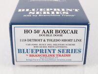 Branchline 1118 HO 50' DD AAR Boxcar Kit Detroit Toledo Short Line D&TS #5092