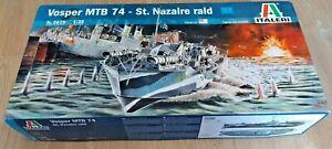 Italeri 1:35 Vosper MTB 74 St Nazaire Raid Model Kit #5619 Easy RC? FREE UK POST