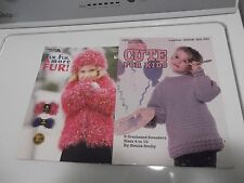 Lot of 2 Great Crochet Sweaters & Other Lovely Accessories Crochet Pattern Books
