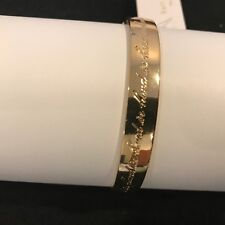 "Kate Spade New York bracelet ""Strength in numbers"" Idiom Bangle Gold Tone, 2.4"""