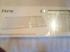 iHome Wireless Bluetooth Keyboard with Numeric Keypad for Mac IMAC-K130 - Silver