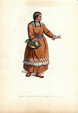 TRADITIONAL RUSSIAN COSTUMES - KORIAK -  HAND-COLOURED COPPERPLATE (1803)