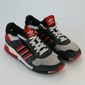 Adidas Classic Retro Style Mens Trainers Grey Red White Size UK 9.5 EUR 42/43