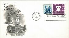 United States Of America Usa 1971 1.7c Embossed Postage Pre-Paid Liberty Bell