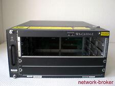 Cisco Switch  WS-C6504-E + 2 x power supply PWR-2700-AC/4 fan tray rack Mount