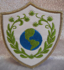 Wappen Erde Earth Umweltschutz Patch ca. 7 x 6 cm Aufnäher Flicken Deko GOR 10