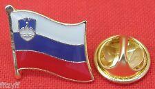 Slovenia Flag Lapel Hat Cap Tie Pin Badge Brooch Republika Slovenija Republic Of