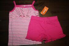 NWT Gymboree Hop 'n Roll Size 5T Knit set  Pink Striped Tank Shirt Shorts