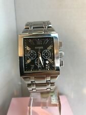 Guess Men's Chronograph Date Black Dial Stainless Steel Bracelet Watch i16539G1