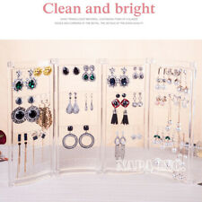 Clear Acrylic Earrings Necklace Display Hanging String Stand Jewelry Organizer