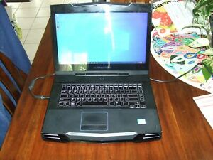 """Alienware M15x 15.6"""" laptop with power supply for rebuild or parts"""