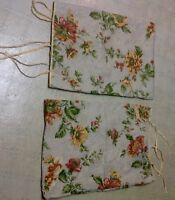 "Mary Janes Farm Home Prim Yellow Fall Floral Pillow Sham Case Set 24"" x 18"" *WoW"