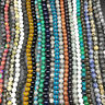 Natural Gemstone Round Spacer Loose Beads 4mm 6mm 8mm 10mm Assorted Stones New